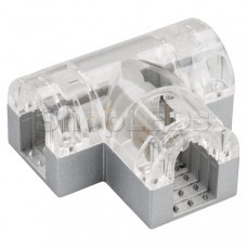 Соединитель тройной ARL-CLEAR-U15-2x90 (26x15mm)