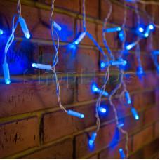 Гирлянда Айсикл (бахрома) светодиодный, 1,8 х 0,5 м, белый провод, 220В, диоды синие